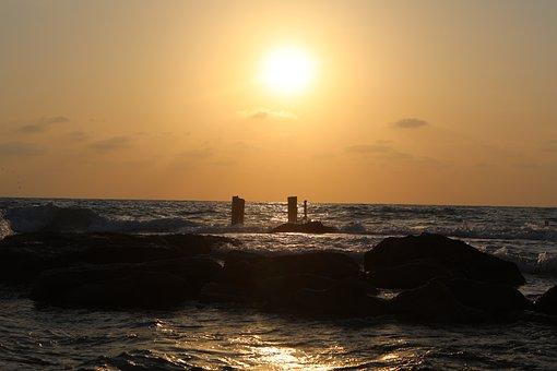 Sea, Sunset, Ocean, Sky, Beach, Water, Sunrise, Nature