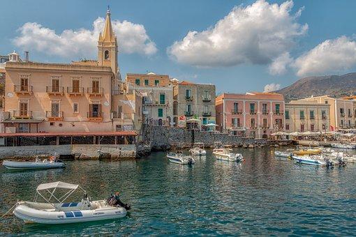 Lipari, Italy, An Island, Travel, Volcano, Sea, The Sky