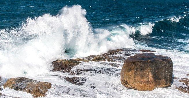 Waves, Rocks, Water, Seaside, Rough, Nature, Splash