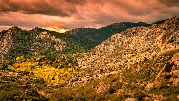 Sky, Landscape, Autumn, Sierra De Guadarrama