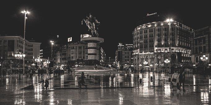 Skopje, North Macedonia, Square, Architecture
