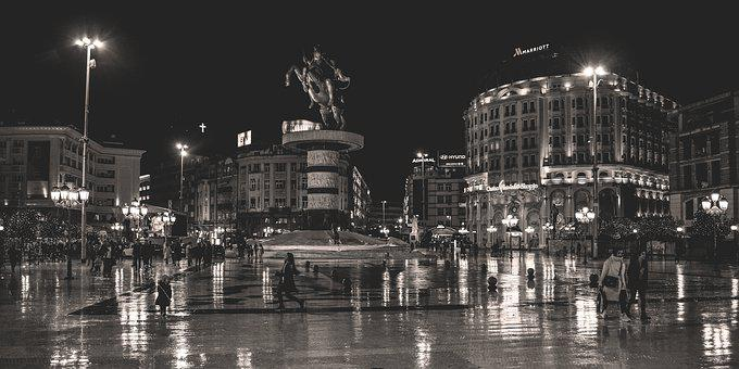 Skopje, North Macedonia, Square, Architecture