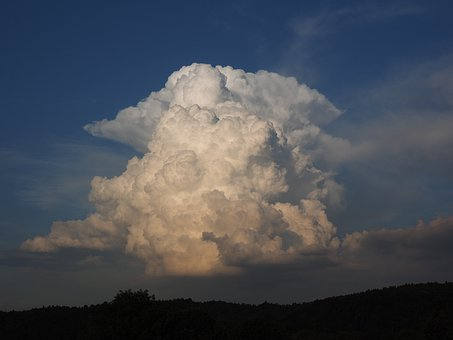 Cloud, Huge, White, Thundercloud