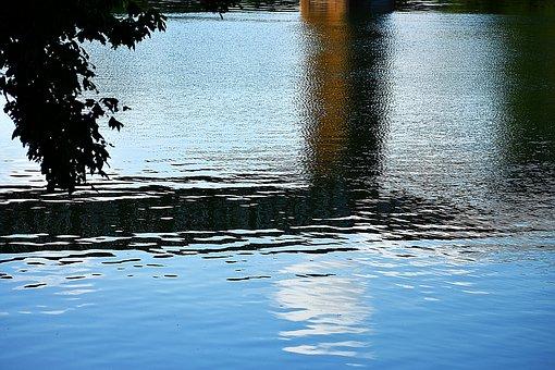 Lake, Reflection, Sunrise, Water, Nature, Landscape