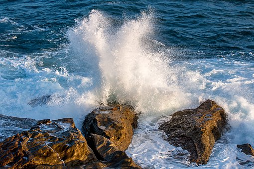 Waves, Rocks, Water, Seaside, Rough, Nature, Splash