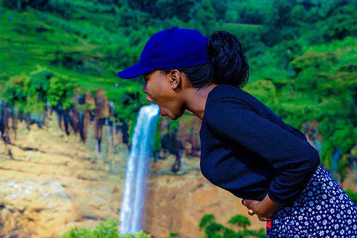 Sipi Falls, Blue Sky, Celebrating, Woman, Celebration