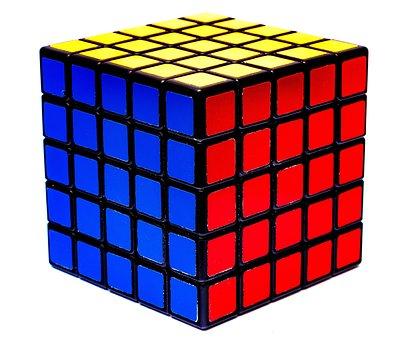 Rubik's Cube, 5x5x5, 5x5, Cubes, Intelligence, Logical