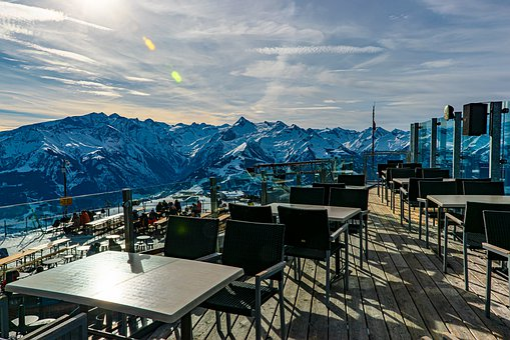 Alps, Restaurant, Mountain, Idyllic, Terrace, Hill