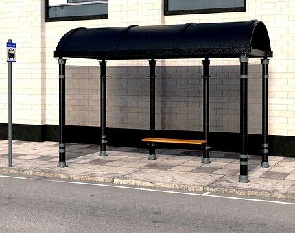Bus Stop, Bus Shelter, Bank, Seat