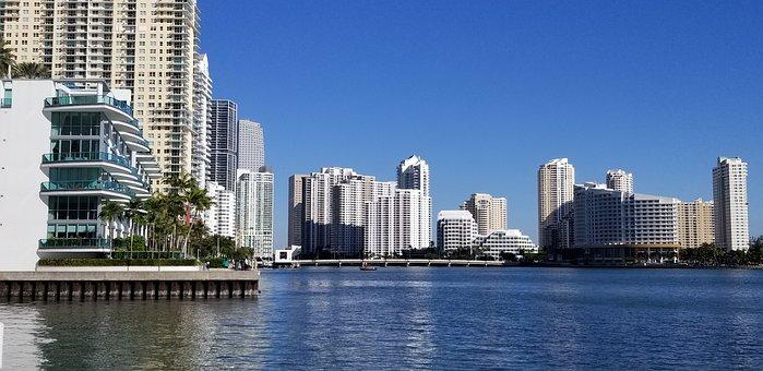Brickell, Miami, Florida, Bay, Waterfront, Biscayne