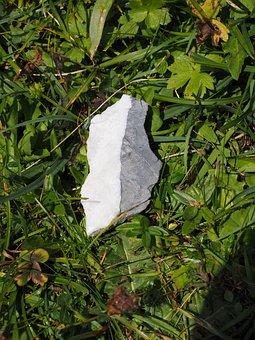 Stone, Lucky Charm, Black White, Yin Yang