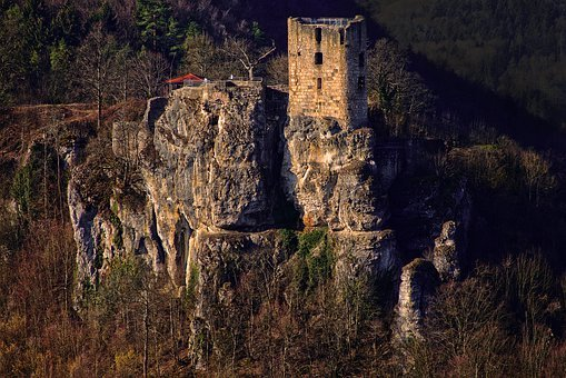 Burgruine, Neideck, Residential Tower, Sunrise, Ruin