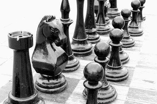 Chess, Chisinau, Outdoor Chess, Chess Horse, Figures