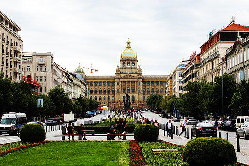 Prague, Wenceslas Square, City, Architecture