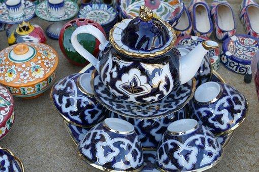 Bukhara, Uzbekistan, Tableware, Cup, Pot, Teapot, Tee