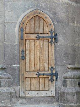 Door, Castle, Wood, Romania