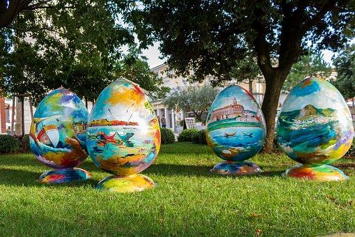 Easter Eggs, Colorful, Easter, Egg, Easter Egg
