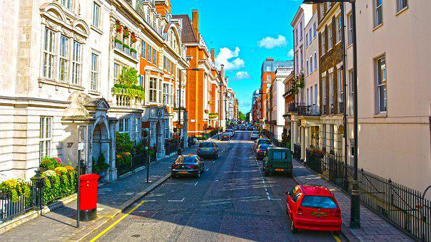 Street, London, England, City, Traffic, People, Europe