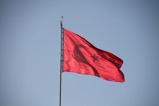 Flag, Turkish, Turkey, Red
