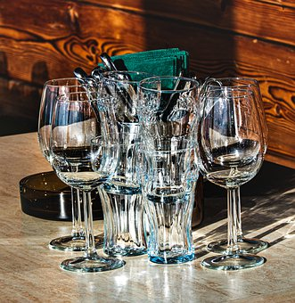 Restaurant, Glasses, Alpine Restaurant, Glassware, Bar