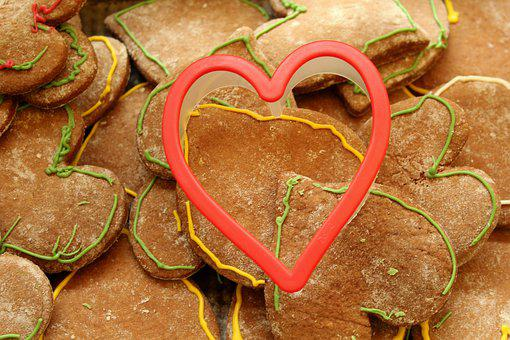 Heart, Symbol, Gingerbread, Mould, Decoration