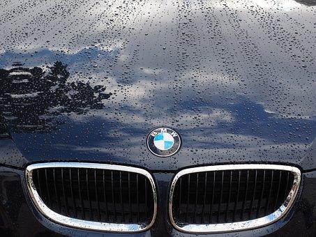Auto, Paint, Hood, Cooler, Bmw, Drop Of Water, Wet
