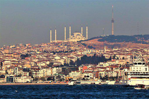 Istanbul, Camlica, Cami, Tower, Marine, Architecture, V