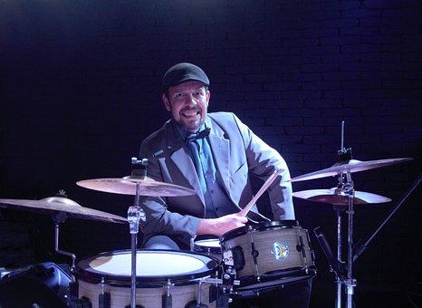 Drummer, Jazz, Drummset, Drums, Band, Music, Instrument