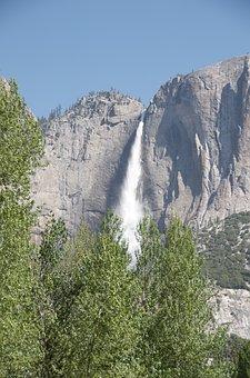 Waterfall, Yosemite, Landscape, Nature, California