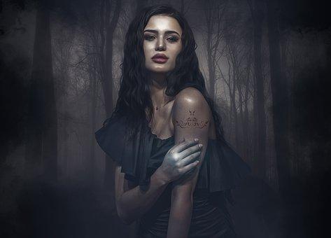 Fantasy, Gothic, Dark, Forest, Mist, Trees, Dark Forest