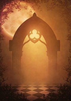 Fantasy, Goal, Moon, Background Image, Gothic