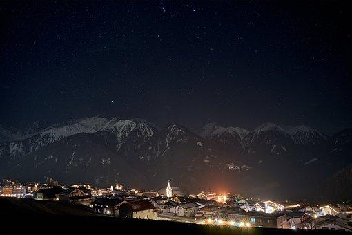 Winter, Panorama, Snow, Mountains, Alpine, Serfaus