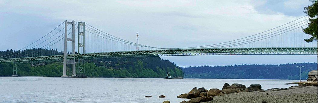 Narrows Bridge, Tacoma, Bridge, Roadway