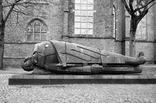 Monument, Dead Warrior, Kleve, Niederrhein, Memory