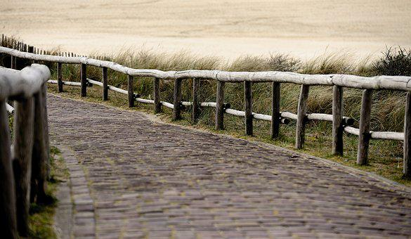 Away, Patch, North Sea, Texel, Paved, Beach, Sand