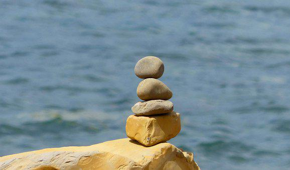 Stones, Pebbles, Rocks, Stacked, Stacking, Coast, Ocean