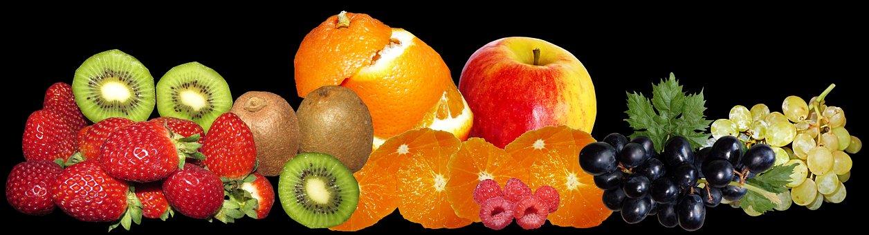 Fruit, Grapes, Oranges, Berries, Kiwi Fruit, Healthy