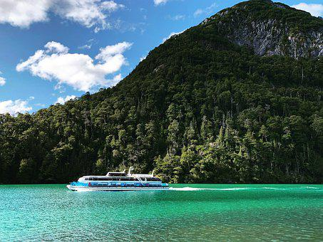 Puerto Blest, Black River, Argentina Patagonia, Lake