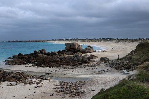 Nature Ocean, Brittany, Beach, Rocks, Sea, Landscape
