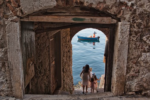 Stairs, Sea, Water, Ocean, Vacations, Croatia, Rovinj