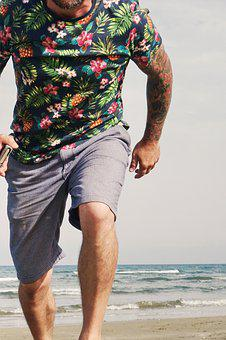 Man, Run, Tattoo, Sport, Jog, Athlete, Training