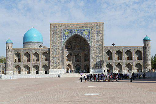 Samarkand, Uzbekistan, Registan Square, Space, Medrese