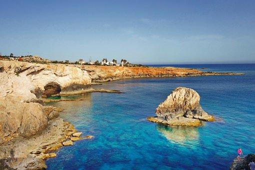 Cyprus, Mediterranean, Mediteran, Sand, Beach, Sea