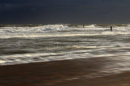 Sea, Wave, Forward, Water, Beach, Sky, Summer