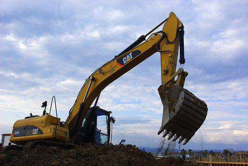 Excavators, Construction Vehicle, Site