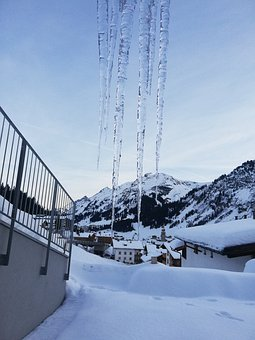 Icicle, Ice, Snow, Cold, Mountain, Landscape, Winter