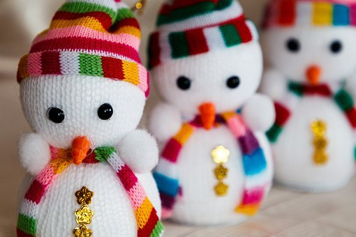 New Year's Eve, Toy, Snowmen, Christmas Tree Toy