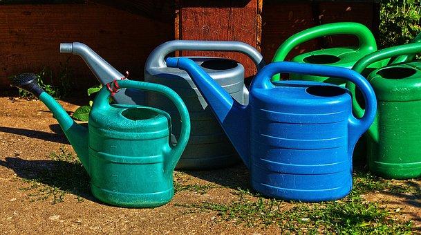 Watering Cans, Spray Jug, Vessel, Irrigation, Garden