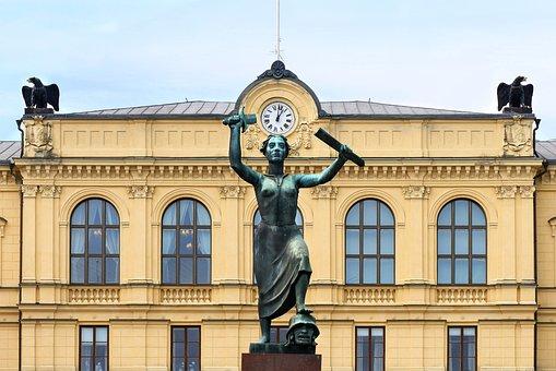 Phoenix, Sweden, Statue, Architecture, Värmland, Square