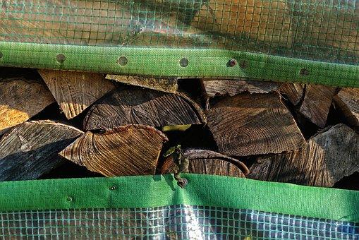 Wood, Firewood, Stacked, Slide, Strains, Sawn